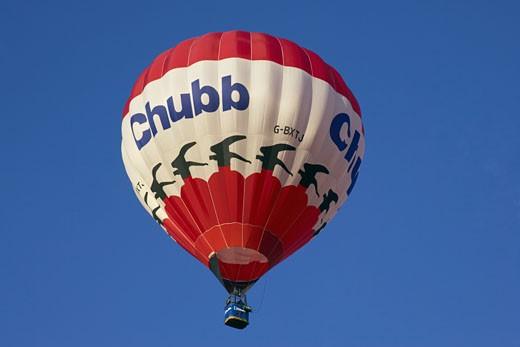 Groombridge, Hot Air Balloon, In flight : Stock Photo