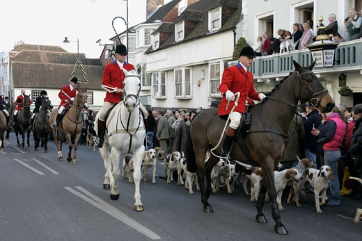 Southdown and Eridge Hunt Boxing Day Meet : Stock Photo