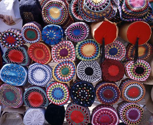 Egypt, Aswan, Nubian Hats : Stock Photo