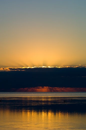 Florida Keys, Islamorada, Ocean View At Sunrise : Stock Photo