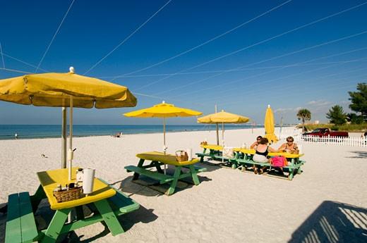 Florida, St Petersburg, Treasure Island, Sunset Beach : Stock Photo