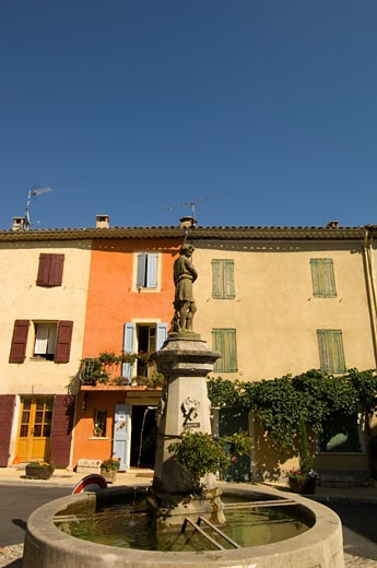Provence, St-Michel L'observatoire, Fountain On Main Square : Stock Photo