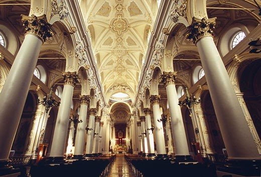 Ragusa, San Giovanni Cathedral Interior : Stock Photo