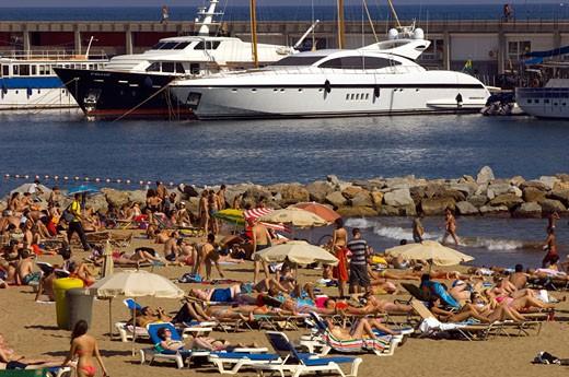 Barceloneta Beach, Barcelona : Stock Photo
