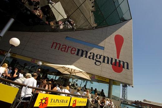 Maremagnum Complex In Port Vell, Barcelona, : Stock Photo