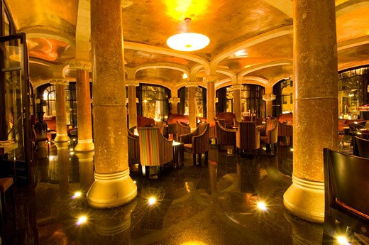 Cafe Vienes ' In Casa Fuster, Gracia, Barcelona,' : Stock Photo