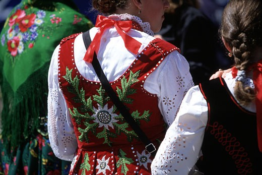 Traditional Costumes Of Podhale Region : Stock Photo