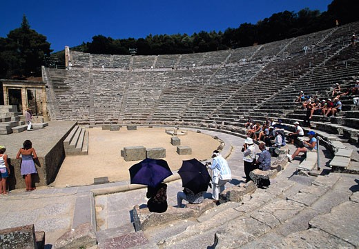 Peloponnese , Epidaurus, Amphitheatre : Stock Photo