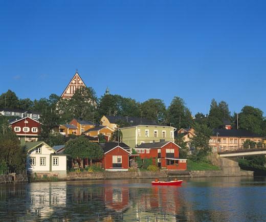 Porvoo, Old Town & Porvoonjoki River : Stock Photo