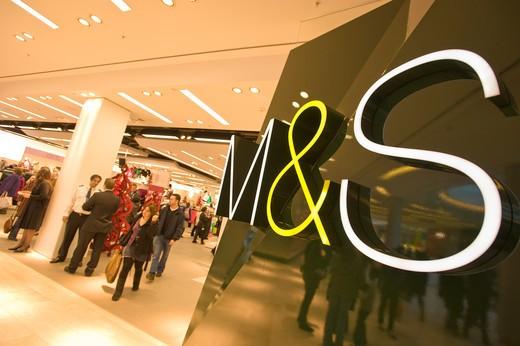 M&S Department Store, Westfield Shopping Centre, White City Development : Stock Photo