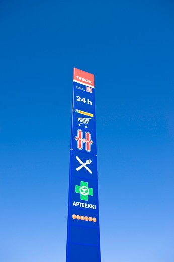 Petrol And Service Station Finland : Stock Photo