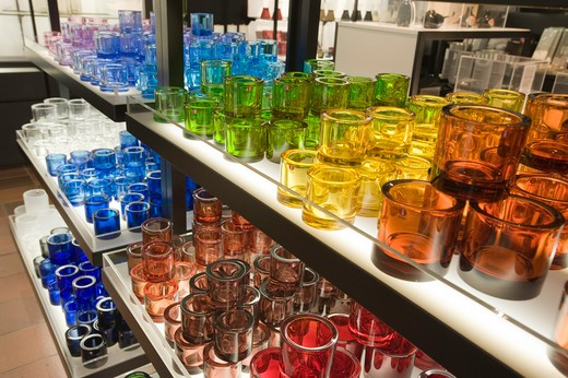 Iittala Glassware On Sale, Helsinki, Finland : Stock Photo