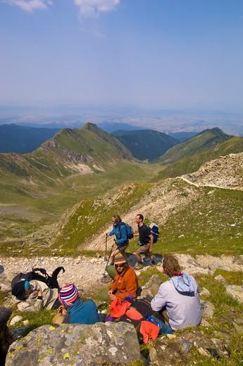Hiking In Fagaras Mountains, Transylvania, Romania : Stock Photo