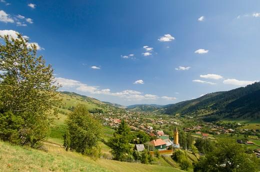 Ghimes Village, Trotus Valley, Moldavia, Romania : Stock Photo