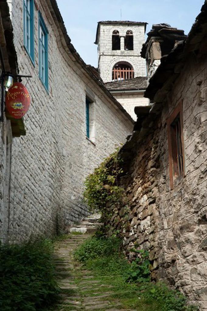 Stock Photo: 196-2365 Greece, Ipiros, Dilofo, Old village