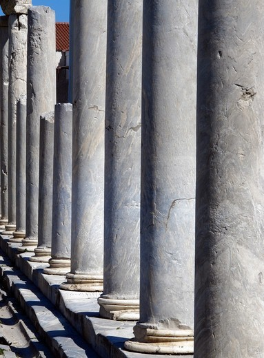 Stock Photo: 196-2369 Greece, Athens, Aerides, Plaka, Ancient columns