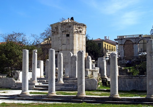 Stock Photo: 196-2386 Greece, Athens, Aerides, Plaka, Ancient columns