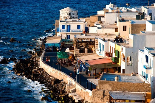 Stock Photo: 196-2437 Greece, Dodecanese, Nisiros Island, Townscape