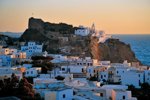 Stock Photo: 196-2440 Greece, Dodecanese, Nisiros Island, Townscape