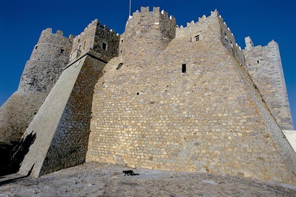 Stock Photo: 196-2446 Greece, Dodecanese, Patmos Island, Castle exterior