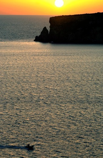 Stock Photo: 196-2483 Greece, Peloponissos, Pylos, Seascape at sunset