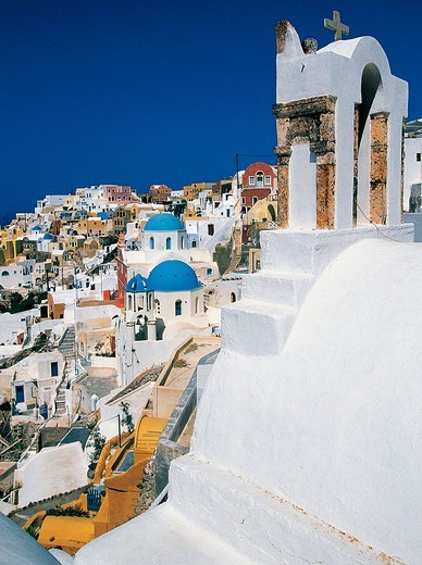 Stock Photo: 196-2525 Greece, Cyclades, Santorini Island, Oia village