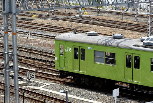 Commuter Train In Kyoto Japan : Stock Photo