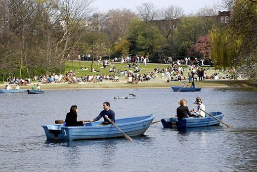 Boating Lake In Regent's Park : Stock Photo
