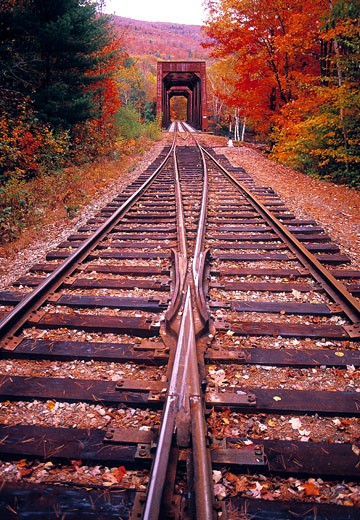 Lincoln, Railway Track : Stock Photo