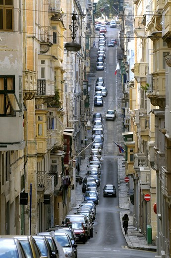 Street In Valletta : Stock Photo