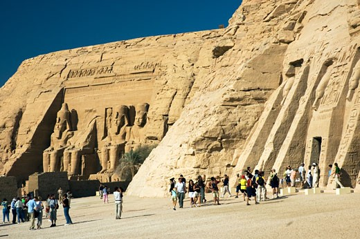 Stock Photo: 1963-1198 Abu Simbel & Queen Nefertari Temple