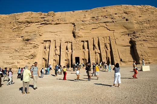 Queen Nefertari Temple : Stock Photo