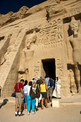 Queen Nefertari Temple Entrance : Stock Photo