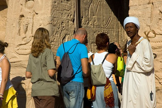 Queen Nefertari Temple Entrance : Stock Photo