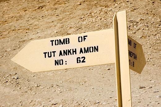 Valley of the Kings, Tutankamon Tomb : Stock Photo