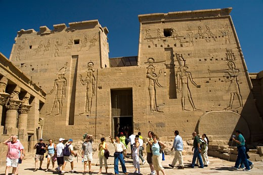 Stock Photo: 1963-1321 Philae, Temple Of Isis