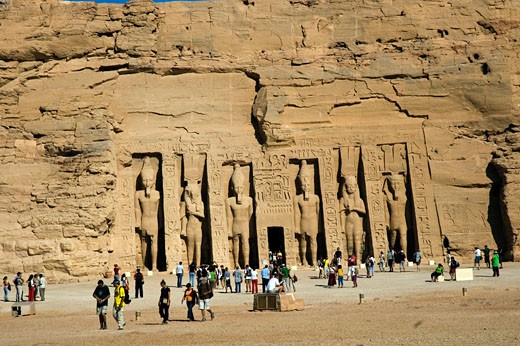 Abu Simbel & Queen Nefertari Temple : Stock Photo