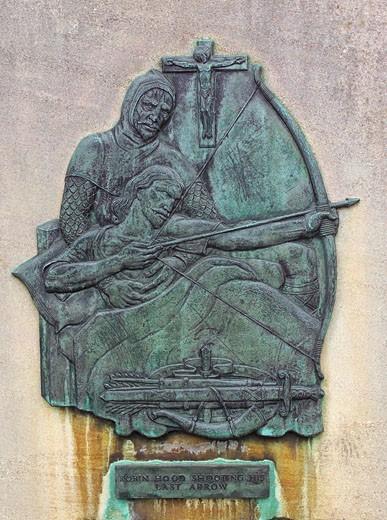 'Robin Hood Shooting His Last Arrow' : Stock Photo