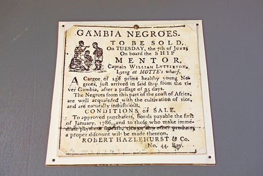 Juffureh, Poster At Exhibition On Slave Trade : Stock Photo