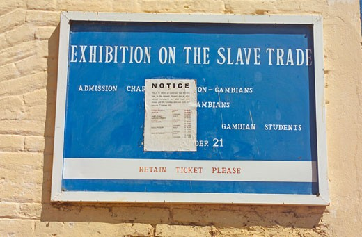 Juffureh, Exhibition On Slave Trade : Stock Photo
