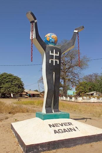 Albreda, 'Never Again'  Slavery Statue : Stock Photo