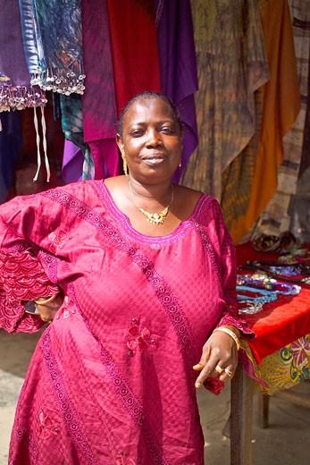Kotu, Market Stall Holder : Stock Photo