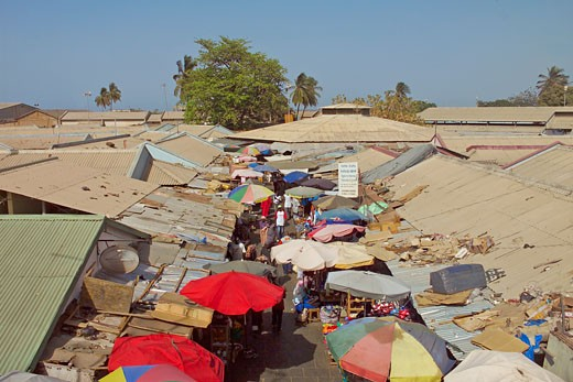 Banjul, Albert Street Market : Stock Photo