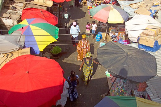 Banjul, Albert Street Market : Stock Photo