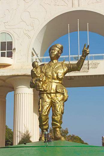 Banjul, Statue of President Yayah Jammeh : Stock Photo