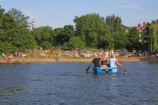 Regent's Park, Boating Lake : Stock Photo