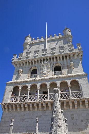 Portugal, Lisbon, Torre De Belem : Stock Photo