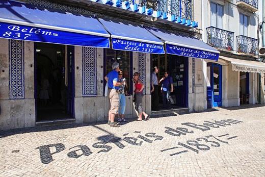 Portugal, Lisbon, Belem, Antiga Casa Dos Pasteis  ( Custard Tart Shop ) : Stock Photo