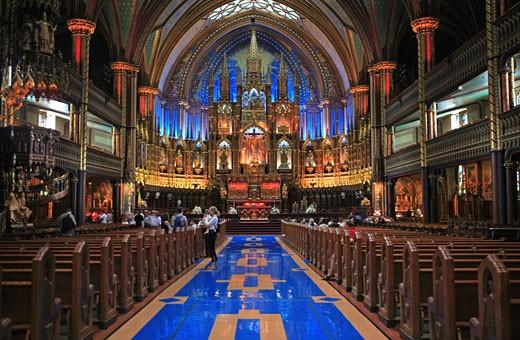 Montreal, Notre Dame Basilica : Stock Photo