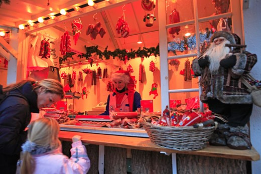 Copenhagen, Tivoli Christmas Market : Stock Photo